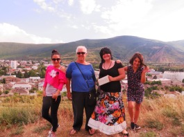 L-R - my host sister, Salome, me, Iantze, and my host sister Nuca.
