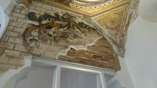 A detail from the Jewish synagogue ceiling