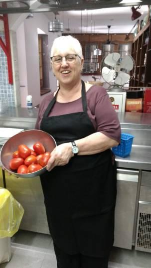 Fresh tomatoes for the salmorejo